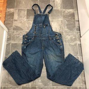 Women's vintage old navy denim jean bib overalls